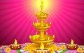 Golden Diya Stand Royalty Free Stock Image