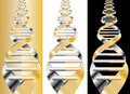 Golden DNA Stock Photography