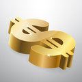 Golden dollar sign vector illustration Royalty Free Stock Photos