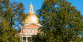 Golden dome of the Massachusetts State House Royalty Free Stock Photo