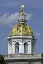 Golden dome of New Hampshire Capitol Royalty Free Stock Photo