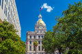 The golden dome of the Savannah City Hall in Savannah Royalty Free Stock Photo