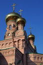 Golden domed Orthodox church. Kiev, Ukraine Royalty Free Stock Images