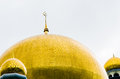 Golden domes of a mosque in Brunei Royalty Free Stock Photo