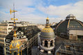 Golden domes over Paris Royalty Free Stock Photography