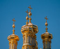 Golden domes of tsarskoye selo the church st catherine in Royalty Free Stock Photo