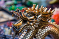 Golden dragon Stock Image