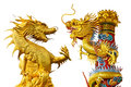 Golden dragon chinese style of in thailand Stock Photos