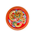 Golden dragon decorated on red wood,chinese style