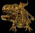 Golden Dragon Dinosaur skeleton  Stock Photos