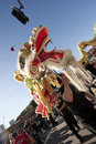 Golden Dragon Parade Dragon Dancers Royalty Free Stock Images