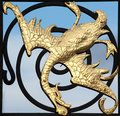 Golden Dragon Sculpture