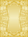 Golden dragons frame set Royalty Free Stock Photo