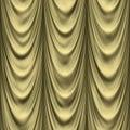 Golden drapes Royalty Free Stock Photo