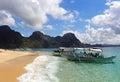 Golden dream sandy beach in Palawan Royalty Free Stock Photo