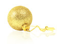 Golden dull christmas ball Stock Photography