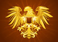 Golden eagle insignia illustration of decorative Royalty Free Stock Photo