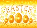 Golden Easter background Stock Photography