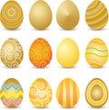 Golden Easter eggs Royalty Free Stock Photo