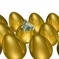 Golden Egg Hatching 2 Stock Image
