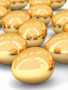 Golden eggs array Stock Photos