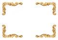 D'oro di telaio su bianco