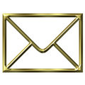 Golden Envelope Stock Photography