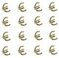Golden euro sign on white background Royalty Free Stock Photo