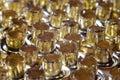 Eyelets, rivets loose close-up Royalty Free Stock Photo