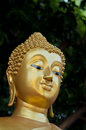 The golden face of buddha statue in thailand Royalty Free Stock Photo
