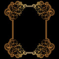 Golden filigree frame for design Royalty Free Stock Photo