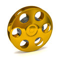 Golden film reel Royalty Free Stock Images