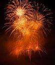 Golden Fireworks Stock Image