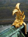 Golden fish on the roof of osaka castle architectural detail old in Royalty Free Stock Photos