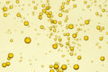 Golden fizz bubbles Royalty Free Stock Photo