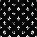 Golden fleur-de-lis seamless pattern black 7