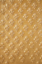 Golden fleur de lys pattern Royalty Free Stock Photography