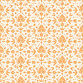 Golden floral damask seamless pattern background vector with hand drawn elements Royalty Free Stock Image