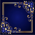 Golden floral frame Royalty Free Stock Images