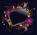 Golden floral frame Royalty Free Stock Photo