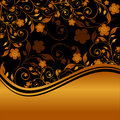 Golden floral ornament Stock Photography