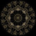 Golden Flower Mandala. Vintage decorative elements. Oriental pattern, illustration. Islam, Arabic, Indian, moroccan,spain,