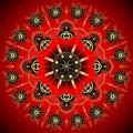 Golden Flower Mandala. Vintage decorative elements. Oriental pattern, illustration. Islam, Arabic, Indian, moroccan,spain,