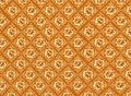 Golden Flower Pattern with Brown Background Textur Royalty Free Stock Image