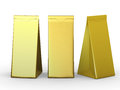 Golden folded paper bag with clipping path Royalty Free Stock Photo