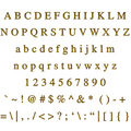 Golden Font Royalty Free Stock Images