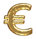 Golden font. Euro sign Royalty Free Stock Photo