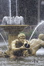 Golden fountaine Royalty Free Stock Photos