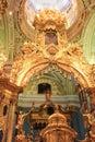 Golden fragments of the iconostasis.