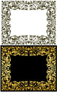 Golden frame decorative floral elements luxury concept Royalty Free Stock Photography